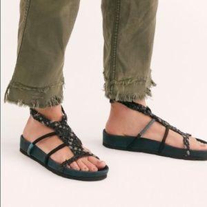 FREE PEOPLE Denali Woven Sandal Black Combo NIB